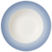 SUPPENTELLER 25 cm - Blau/Creme, KONVENTIONELL, Keramik (25cm) - Villeroy & Boch