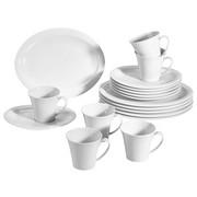 Porzellan  KAFFEESERVICE 18-teilig   - Weiß, Basics, Keramik (32/21/31cm) - Seltmann Weiden