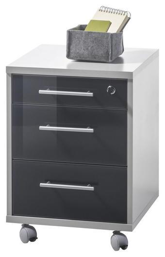 LADIČAR NA KOTAČIĆIMA - boje grafita/boje srebra, Design, staklo/drvni materijal (40/56/40cm) - Xora