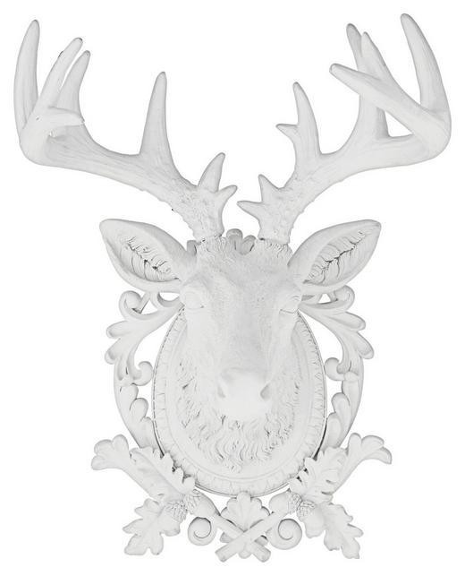 DEKOSCHÄDEL - Weiß, Design, Kunststoff (45/68/44cm) - KARE-Design