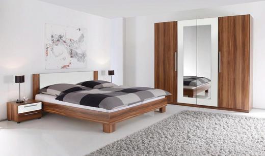 SCHLAFZIMMER 180/200 cm - Nussbaumfarben/Weiß, Design (180/200cm) - Carryhome