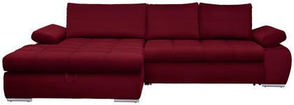 WOHNLANDSCHAFT in Textil Rot  - Chromfarben/Rot, Design, Kunststoff/Textil (173/294cm) - Carryhome