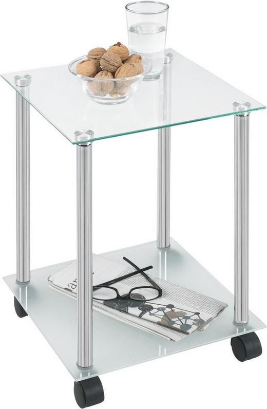 BEISTELLTISCH in Chromfarben - Chromfarben, Design, Glas/Kunststoff (34/45/34cm) - Boxxx