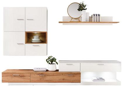 HYLLKOMBINATION - vit/silver, Design, träbaserade material/plast (280/185/47cm) - Ti`me