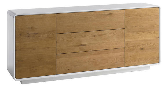 SIDEBOARD 170/76/40 cm  - Eichefarben/Weiß, Design, Holz/Holzwerkstoff (170/76/40cm) - Xora