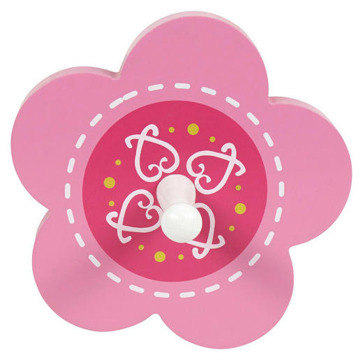 GARDEROBA ZIDNA - pink/bijela, Basics, drvni materijal/drvo (13cm) - MY BABY LOU