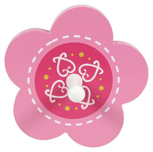 WANDGARDEROBE Buche massiv Weiß, Pink - Pink/Weiß, Basics, Holz (13cm) - My Baby Lou