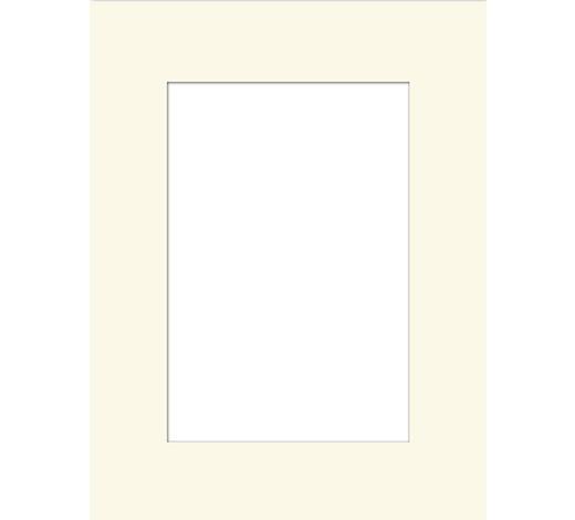 PASPARTA - krémová, Basics, papír (13/18/0.3cm)