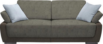 SCHLAFSOFA in Textil Hellblau, Dunkelbraun, Hellbraun  - Chromfarben/Hellbraun, Design, Holz/Textil (214/83/95cm) - Venda