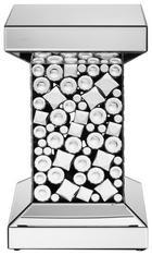 BEISTELLTISCH Klar, Silberfarben - Klar/Silberfarben, Glas (30,5/51/30,5cm) - Ambia Home