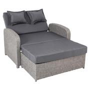 LOUNGESOFA - Grau, Design, Kunststoff/Textil (117/75/95cm)