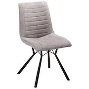 STUHL Flanell Schwarz, Hellgrau  - Hellgrau/Schwarz, Design, Textil/Metall (60/89/54cm) - Xora