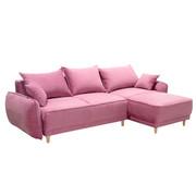 SJEDEĆA GARNITURA - pink/boje bukve, Moderno, drvo/tekstil (235/155cm)