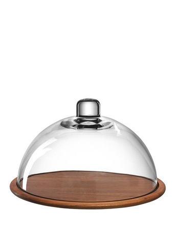 ZVONO ZA SIR - prozirno/smeđa, staklo/drvo (28,00/17,00/28,00cm) - Leonardo