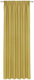 FERTIGVORHANG blickdicht - Gelb, KONVENTIONELL, Textil (140/300cm) - Esposa