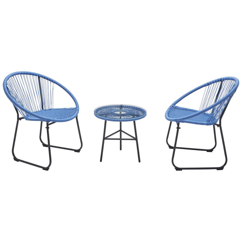 XXXL BALKONSET, Blau | Garten > Balkon > Balkon-Sets | Blau | Glas