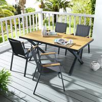 STOL VRTNI - prirodne boje/antracit, Design, drvo/metal (180/91/74cm) - Ambia Garden