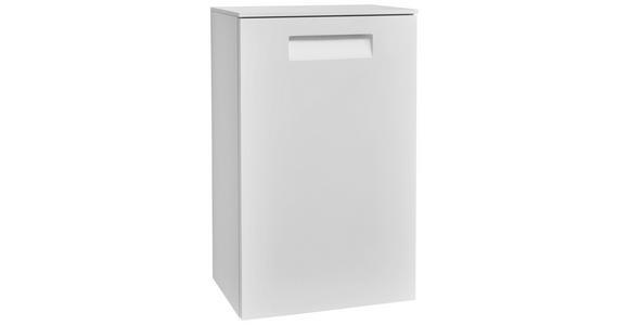SEITENSCHRANK 45/73/33 cm  - Weiß, Design, Glas/Holzwerkstoff (45/73/33cm) - Dieter Knoll
