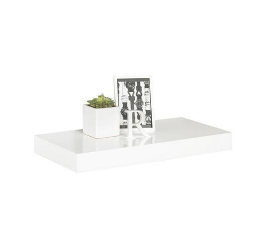 NÁSTĚNNÁ POLICE, bílá - bílá, Design, kov/kompozitní dřevo (50/5/25cm) - Boxxx