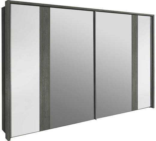 SCHWEBETÜRENSCHRANK 2-türig Weiß, Silbereichenfarben  - Weiß/Silbereichenfarben, Design, Holzwerkstoff (200/223/69cm) - Visionight