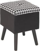 HOCKER Schwarz, Weiß - Schwarz/Weiß, MODERN, Holzwerkstoff/Textil (40/45/40cm) - Carryhome
