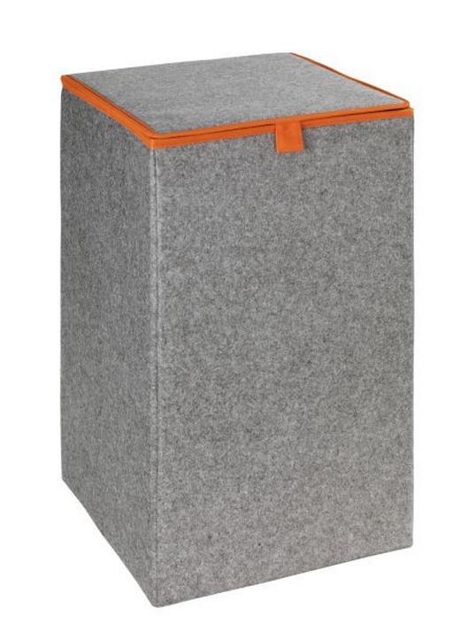 WÄSCHEKORB - Orange/Grau, Basics, Textil (32/54/32cm)