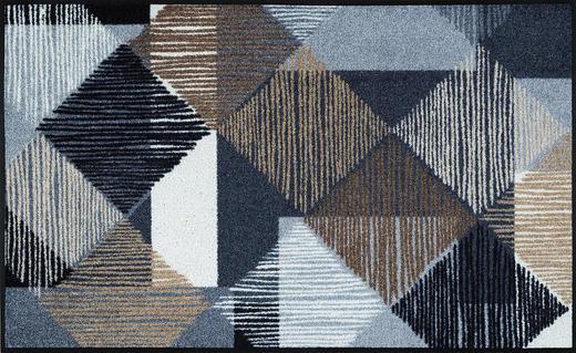 FUßMATTE 75/120 cm Graphik Hellblau, Naturfarben - Naturfarben/Hellblau, Kunststoff/Textil (75/120cm) - Esposa