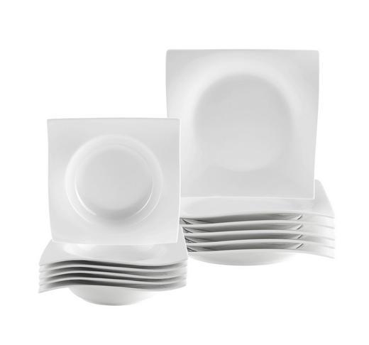 Porzellan  TAFELSERVICE  12-teilig - Weiß, Basics - NOVEL