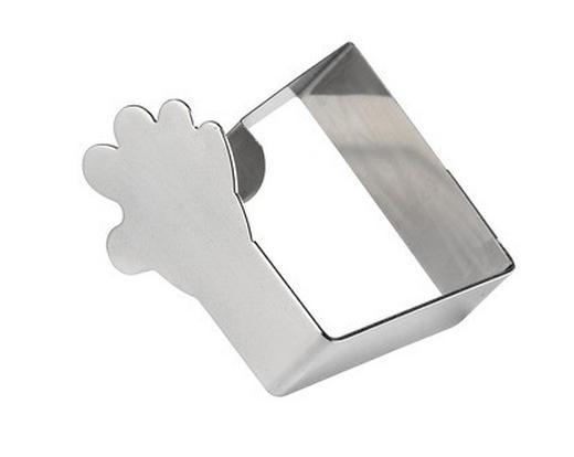 TISCHTUCHKLAMMER Metall Silberfarben 6/6 cm - Silberfarben, Metall (6/6cm)