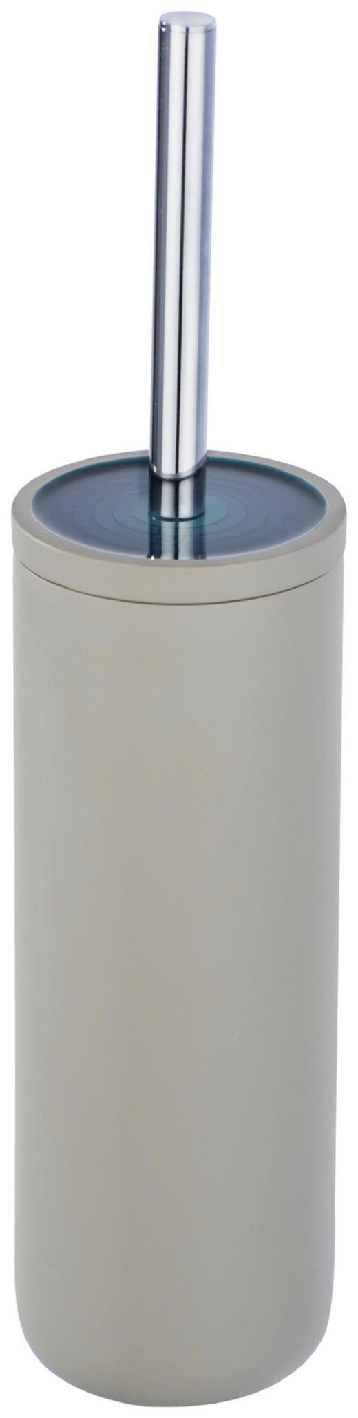 WC-BÜRSTENGARNITUR - Taupe/Chromfarben, MODERN, Kunststoff/Metall (9,5/39,5cm)