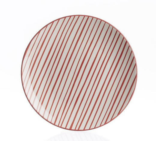 DESSERTTELLER - Rot/Weiß, Basics, Keramik (21cm) - Landscape