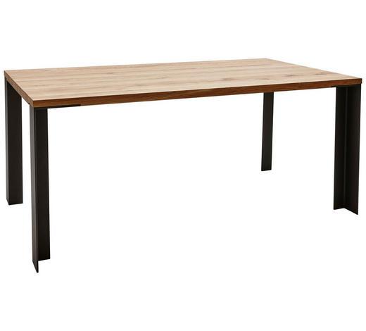 ESSTISCH in Holz, Metall 180/100/77 cm   - Eichefarben/Anthrazit, Design, Holz/Metall (180/100/77cm) - Dieter Knoll