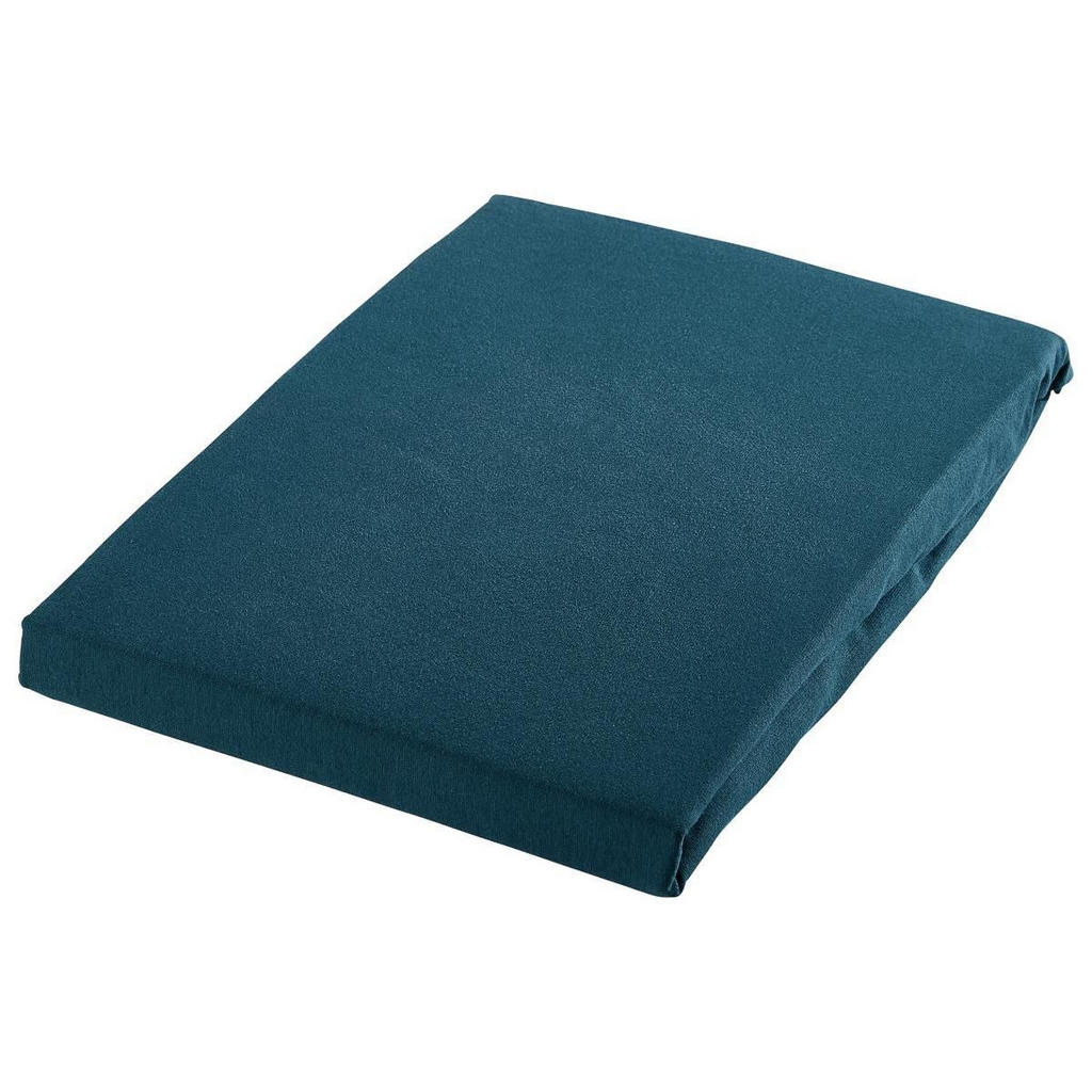 Esposa Spannbetttuch , Petrol , Textil , 180 cm , Textiles Vertrauen - Oeko-Tex® , bügelleicht, für Wasserbetten geeignet , Heimtextilien, Bettwäsche, Spannbetttücher