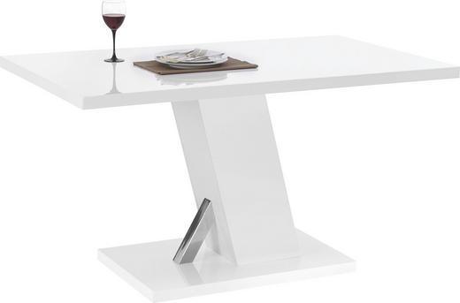 JEDILNA MIZA, bela - bela, Design, kovina/leseni material (140/75/80cm) - Xora