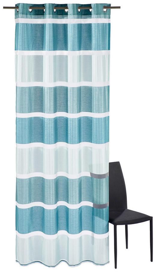 ÖSENSCHAL   140/245 cm - Türkis/Petrol, Basics, Textil (140/245cm) - Esposa