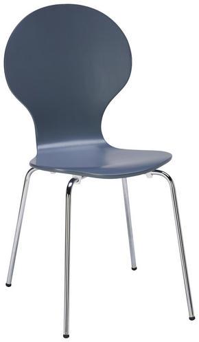 STOL - mörkgrå/kromfärg, Design, metall/trä (55,6/87,3/46,2cm) - Carryhome