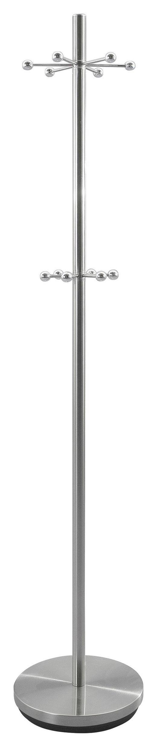 KLEIDERSTÄNDER Chromfarben, Edelstahlfarben - Chromfarben/Edelstahlfarben, Design, Kunststoff/Metall (31/172cm)