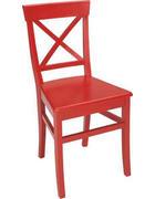 STUHL Buche massiv Rot  - Rot, Design, Holz (45/95/45cm) - Carryhome
