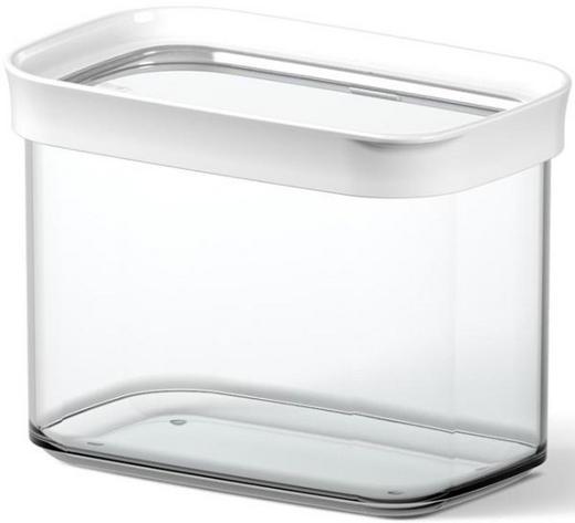 VORRATSDOSE 1 L - Transparent/Weiß, Basics, Kunststoff (1.00l) - Emsa