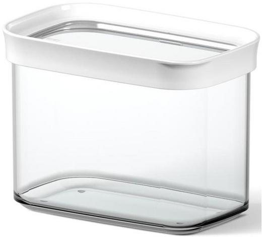 VORRATSDOSE  1 l - Transparent/Weiß, KONVENTIONELL, Kunststoff (1.00l) - Emsa
