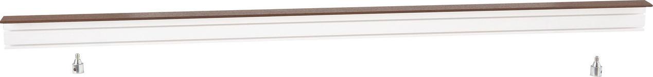 Vorhangschiene 200 cm - Nussbaumfarben/Weiß, KONVENTIONELL, Kunststoff (200/5/7.5cm) - Ombra