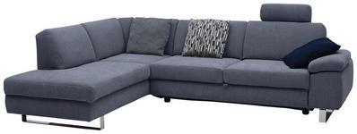 WOHNLANDSCHAFT in Textil Grau - Chromfarben/Grau, Design, Textil/Metall (198/274cm) - Venda