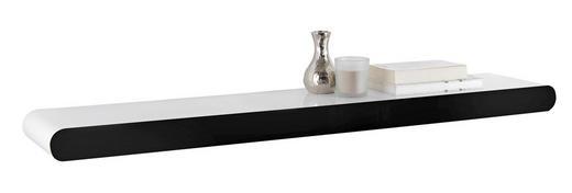 WANDBOARD in 110/5,8/20 cm Schwarz, Weiß - Schwarz/Weiß, Design, Holzwerkstoff (110/5,8/20cm) - Xora