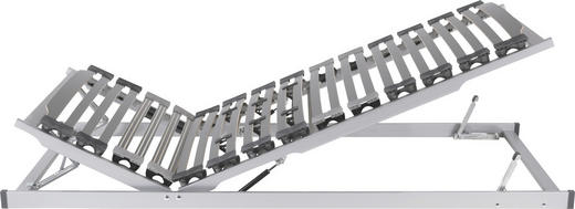 LATTENROST  90/200 cm  Buche Echtholz - Anthrazit/Silberfarben, Basics, Holz (90/200cm) - DIAMONA