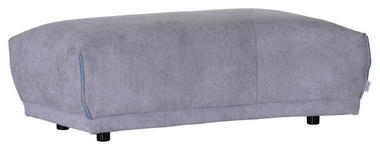 HOCKER in Textil Hellgrau  - Hellgrau/Schwarz, MODERN, Kunststoff/Textil (115/42/66/53cm) - Hom`in