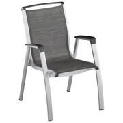 STAPELSESSEL Aluminium Graphitfarben, Silberfarben - Silberfarben/Graphitfarben, Design, Textil/Metall (74/67/96cm) - KETTLER HKS