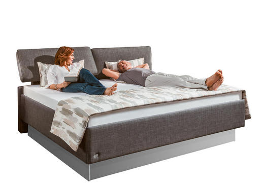 POLSTERBETT 180/200 cm - Dunkelgrau, KONVENTIONELL, Textil (180/200cm) - Ruf