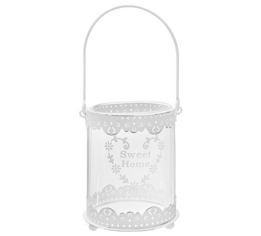 TEELICHTHALTER - Weiß, Basics, Glas/Metall (8,5/10/7,5cm) - Ambia Home