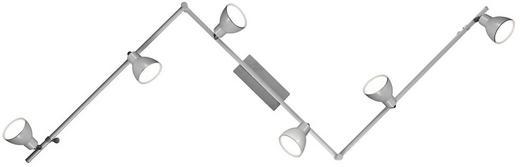 LED-STRAHLER - Silberfarben, Design, Metall (180cm)