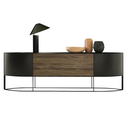 SIDEBOARD 250,8/90,8/45,4 cm - Anthrazit/Nussbaumfarben, MODERN, Holzwerkstoff/Metall (250,8/90,8/45,4cm) - Hülsta